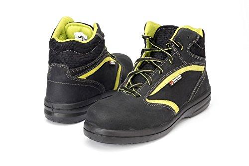 Samurai 1034298001Paar Schuhe Hohe Jade S3SRC, schwarz/grün, 36