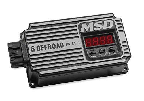 MSD Ignition 6471 Ignition Control; Digital 6 Offroad; 12000 RPM Range; Built In Start Retard 0-20 Degree Adjustable; Black; (6 Off Road Ignition Control)