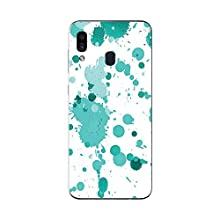 MightySkins Skin for Samsung Galaxy A20 / A30 - Teal Splatter | Protective, Durable, and Unique Vinyl Decal wrap Cover | Easy to Apply, Remove, and Change Styles | Made in The USA