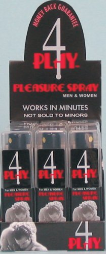 Pulvérisation 4 Pleasure Play - Stimulant sexuel et Exhancement ascenseur Mood - Présentoir de 12 Vaporisateurs 0,81 oz / ch