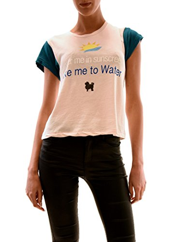 Wildfox Mujer Take Me To Water Top Tee Chapstick