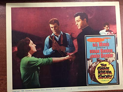 GENE KRUPA STORY (1960) original lobby card with Sal Mineo Excellent condition. PLEASE NOTE: This is NOT a video OR a DVD, this is an original lobby card which was displayed in the movie theaters to promote the film. XY03