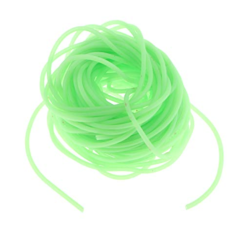 (Flameer 3pcs Luminous Green Plastic Fishing Rigs Tube Tubing for Fisherman Tackle Inner Diameter 1mm/0.04inch)