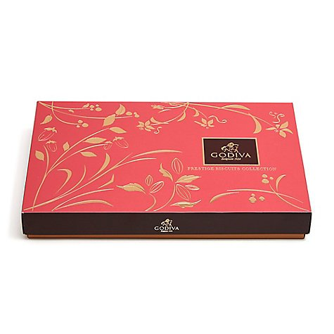 Godiva Chocolatier Chocolate Biscuit, Great for Valentines Day, 36 Cookie Count