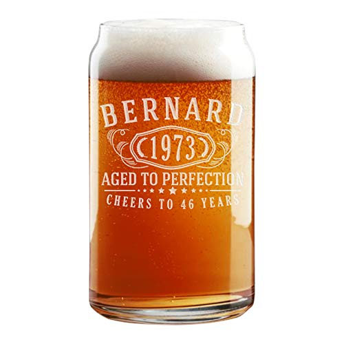 Soda Beer Pint Glasses - Personalized Etched 16oz Beer Soda Can Pint Glass for Birthday Gifts