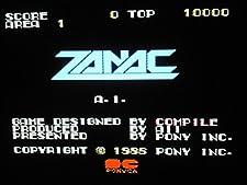 ZANAC MSX MSX2