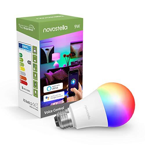 Novostella LED Wifi Smart Lampe E27 RGB Alexa Lampen