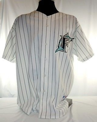 9674b317 Image Unavailable. Image not available for. Color: Miami Florida Marlins  Vintage Russell Pinstripe Jersey ...