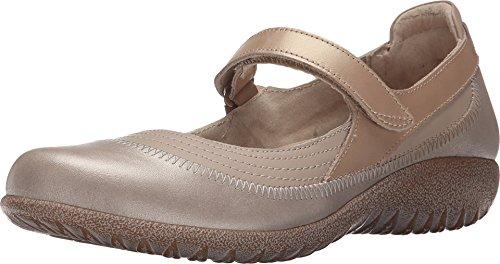 Naot Footwear Women's Kirei Linen Leather/Stardust Leather/Champagne Leather Flat 40 (US Women's 9) M Linen Leather Footwear