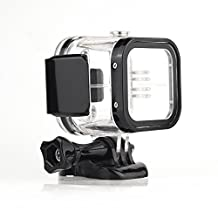 Housing Case for GoPro Hero 5 Session Waterproof Case Diving Protective Housing Shell 48m with Bracket for Go Pro Hero5 Session & Hero4 Session,NEW DESIGN