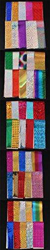Nail Foil - 50Pcs/set Shimmer Starry Sky Nail Foil Colorful Nail Starry Glitter Transfer Sticker Manicure Nail Art Decoration Accessories - Foil For Nails (Kansas State Sheet Set)