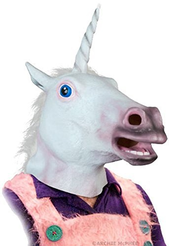 Adult Latex Magical Unicorn Mask Costume Accessory]()