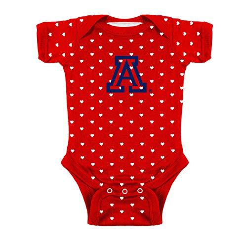 Arizona Wildcats NCAA College Newborn Infant Baby Heart Creeper (6 Months) Red,White ()