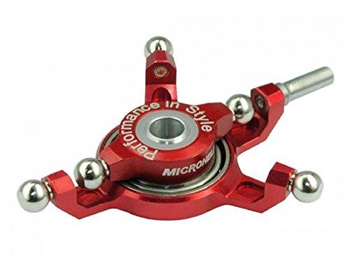 Microheli Precision CNC Aluminum Swashplate (RED) - MASTER (Precision Cnc Aluminum Head)