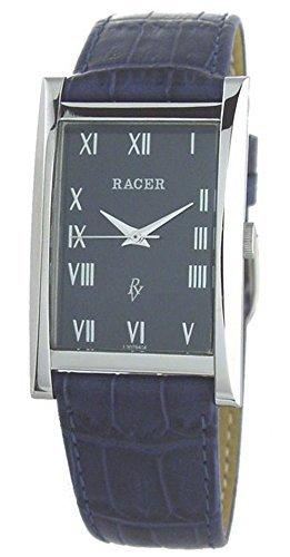 L30794-4 Reloj Racer Hombre, caja de acero, correa de cuero