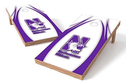 Wild Sports NCAA College Northwestern Wildcats 2' x 4' V Logo Authentic Cornhole Game Set [並行輸入品]