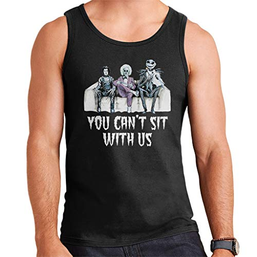 You Cant Sit with Us Tim Burton Characters Men's Vest (Best Tim Burton Characters)