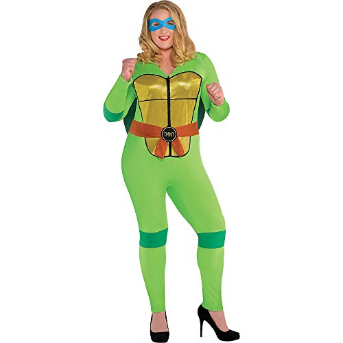Amscan Teenage Mutant Ninja Turtles Sexy Halloween Costume for Women, Plus Size, with Included Accessories]()