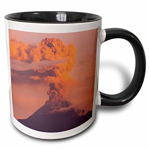 3dRose Danita Delimont - Pete Oxford - Mountains - Tungurahua Active Volcano. Seen from Salasaca Village, Andes, Ecuador. - 15oz Two-Tone Black Mug (mug_189092_9) (Volcano Oxford)