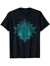 Sri Yantra Yoga T-shirt - Meditation - Blue-Green
