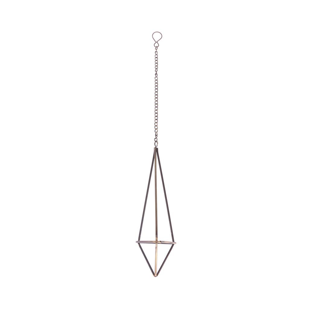 Fogun Geometric Hanging Air Plants Rack Holder Triangle Flower Container With Chains