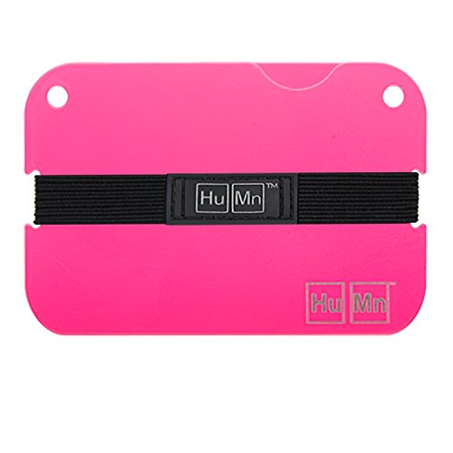 HuMn Mens Wallet Mini Neon Pink-One Size