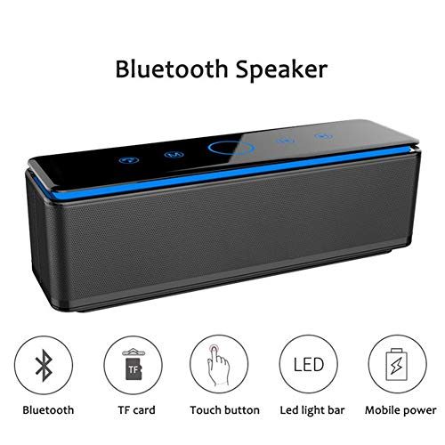 Portable Speaker,Touch Wireless Speaker Bluetooth Soundbar V4.0 with HD Sound and Bass, Built-in Mic, Line-in, TF Card,Home Music Theatre 3D Stereo System Phones Speakers