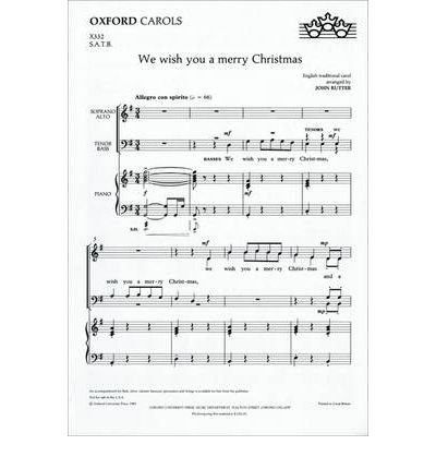 [(We Wish You a Merry Christmas: Vocal Score)] [Author: John Rutter] published on (November, 1989) (You Wish Christmas Merry Author A We)