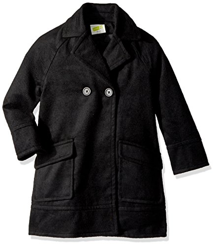 Little Girls Coat (Crazy 8 Little Girls' Wool Coat, Black, M)