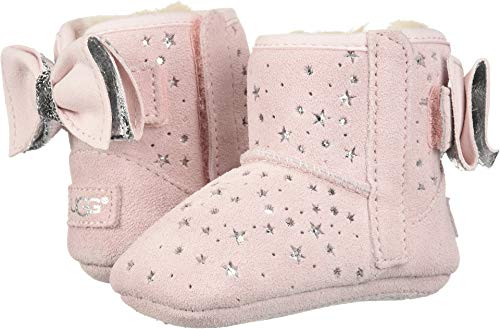 UGG Girls' I Jesse Bow II Stargirl Bootie Fashion Boot, Baby Pink, 4/5 M US Infant ()