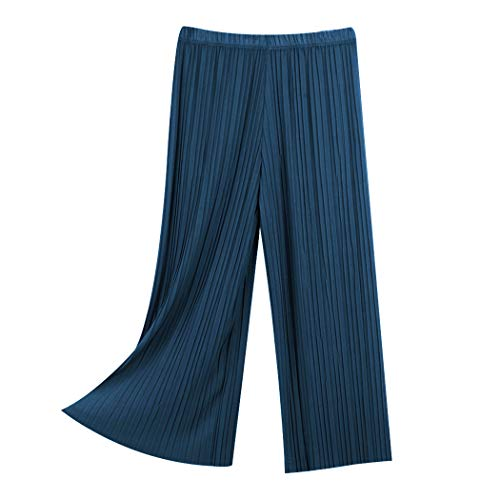 Large Femme Jupe Jupe mioim Couleur Bleu Pantalon Unie Pantalon Pantalon Pantalon Dcontract qgfYWTt