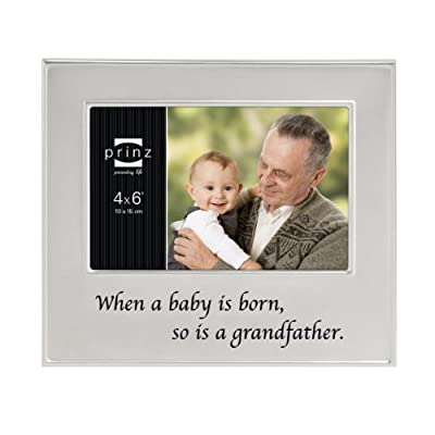 Prinz A Grandfather is Born Metal Frame for 6 by 4-Inch Horizontal Photo