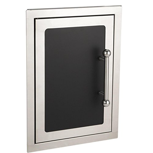 Fire Magic Echelon Black Diamond 14-inch Left-hinged Single Access Door - Vertical With Soft Close - 53920hsc-l