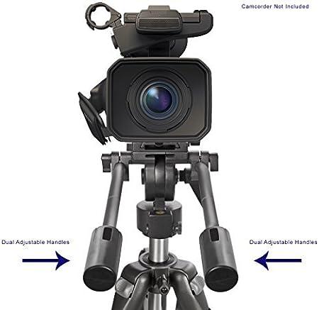 Professional Dual Handle Aluminum 67 Tripod for Sony Handycam DCR-SR65 Bubble Level