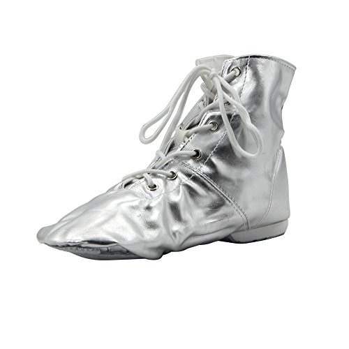 - PU Women's Jazz Dance Boots Silver,7.5 M US