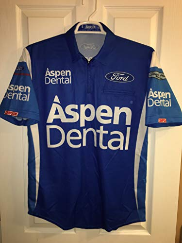 SMALL Blue Danica Patrick Ford Nascar Pit Crew Shirt Stewart Haas Jersey Racing Aspen Dental Simpson