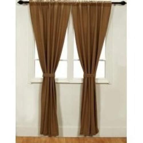 (Burlap Natural Cotton Window Panels (Set of 2) 84x40