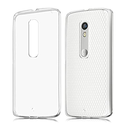 kwmobile Crystal Case Cover for Motorola Moto X Play made of TPU Silicone - transparent clear Protection Case in (Motorola X Clear Cover)