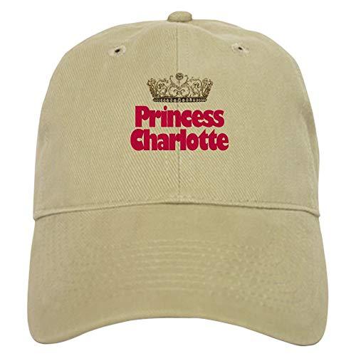 CafePress Princess Charlotte Baseball Cap with Adjustable Closure, Unique Printed Baseball Hat Khaki
