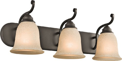 Kichler 45423OZ Camerena Bath 3-Light, Olde - Umber Vanity 3 Light