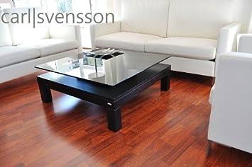 Amazonde Design Couchtisch Tisch V 570h Schwarz Getöntes Glas Carl