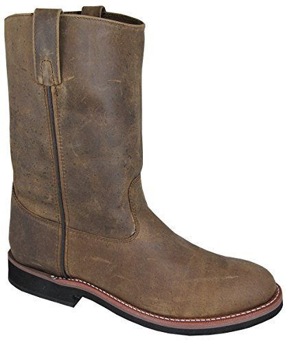 Round Smoky Wellington Mountain Men's 4024 Toe Cowboy Boot Brown qZfPZX