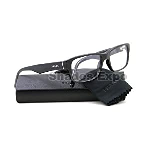 PRADA EYEGLASSES OPTICAL RX VPR 16M 1AB-101 BLACK VPR16M 53/16/140