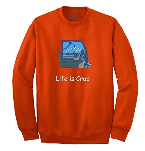 Life Is Crap - Locked Car Keys Printed Adult Crewneck Sweatshirt