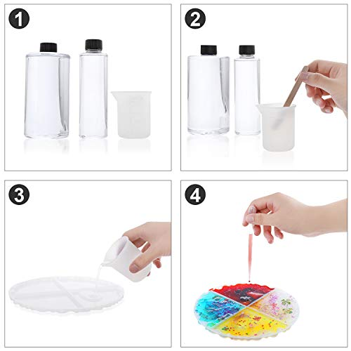 35Pcs Resin Moulds, XLarge Coaster Moulds for Resin Casting, Silicone Coaster Moulds for Resin, DIY Cup Soap Candle Holder Ashtray Flower Pot, Pendant Mould Kit