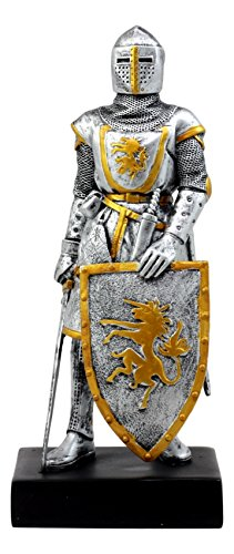 - Ebros Medieval Swordsman Knight of Heraldry Figurine 8.75