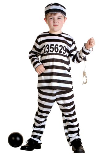 Jail Costume Toddler (Little Boys' Prisoner Costume)