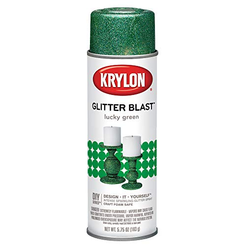 Krylon K03809A00 Glitter Blast, Lucky Green, 5.75 Ounce ()