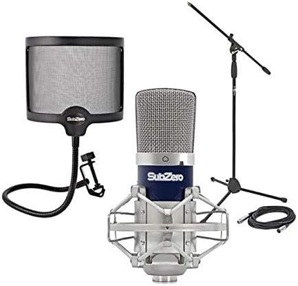 SubZero SZ-400 Microfono de Condensador Pack de Estudio: Amazon.es: Instrumentos musicales