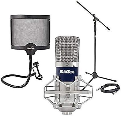 SubZero SZ-400 Microfono de Condensador Pack de Estudio: Amazon.es ...